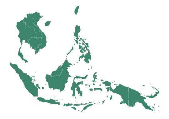 Map of Bali and Southeast Asia