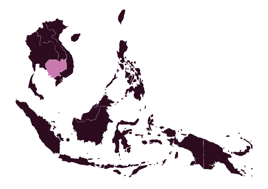 Map of Cambodia and Southeast Asia