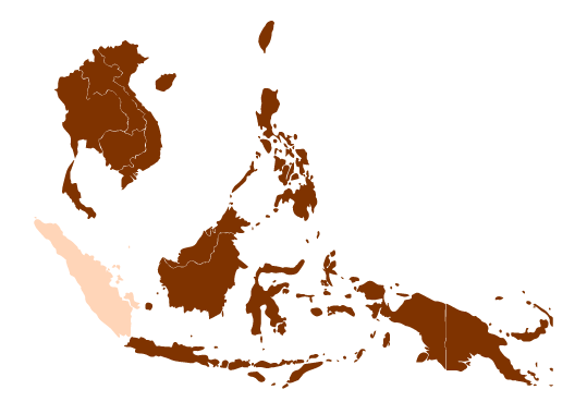 Map of Sumatra and Southeast Asia