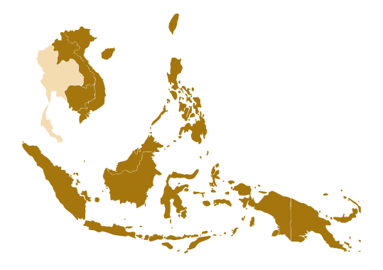 Map of Thailand and Southeast Asia