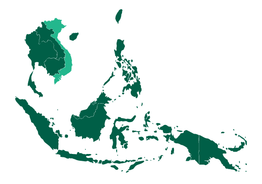 Map of Vietnam and Southeast Asia